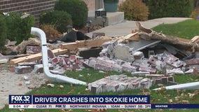 DUI driver crashes into Skokie house: police