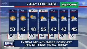 10 p.m. forecast for Chicagoland on Nov. 11