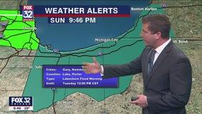 Sunday night forecast for Chicagoland on Nov. 29th