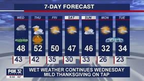 10 p.m. forecast for Chicagoland on Nov. 24