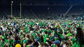 Notre Dame mandates COVID testing after football celebration