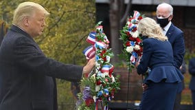 Trump, Biden mark Veterans Day 2020 at wreath-laying events