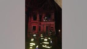 Firefighter hurt battling Edgewater blaze