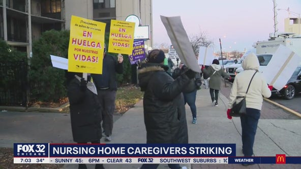Nearly 700 nursing home workers strike for hazard pay, better conditions at Infinity centers