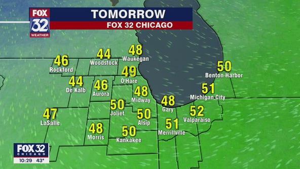 Saturday evening forecast for Chicagoland