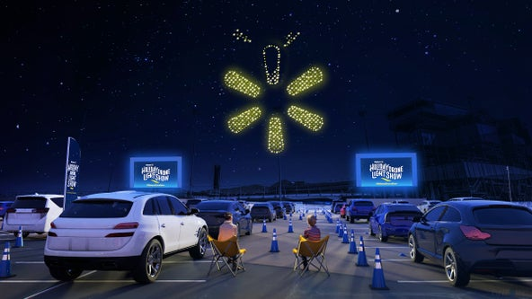 Free holiday drone light show coming to Walmarts in select cities across US