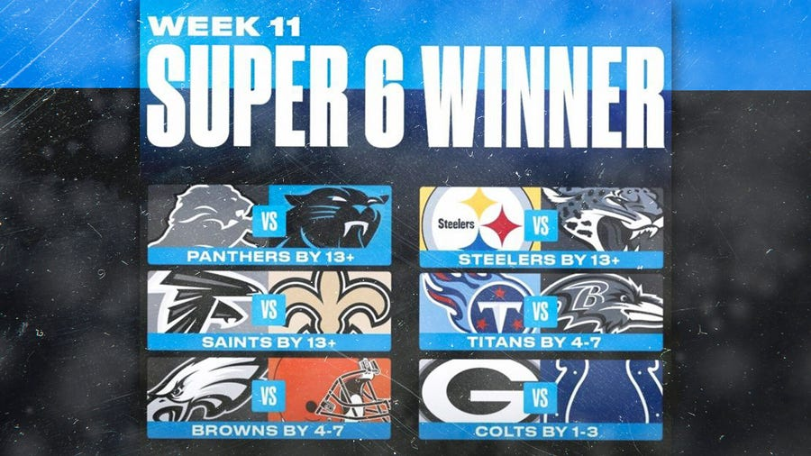 A super NFL Week 11 as fans split $1 million
