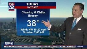 Morning forecast for Chicagoland on Dec. 1st
