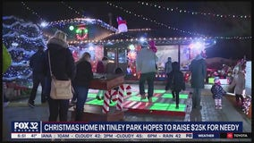 Christmas home in Tinley Park hopes to raise $25K for those in need