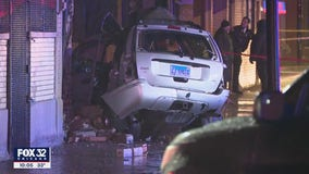4 killed after vehicle crashes into building, becomes engulfed in flames in Cicero