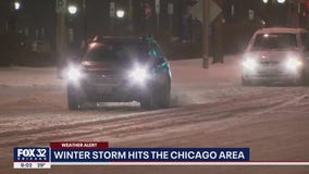 Over 3 inches of snow blankets Chicago in first major winter storm