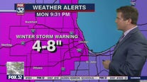 Winter Storm Forecast: Snow falling on Chicagoland area, 8 inches possible