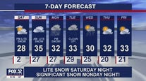 10 p.m. forecast for Chicagoland on January 22nd