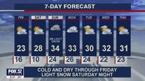 10 p.m. forecast for Chicagoland on January 21st