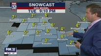 Forecast for Chicagoland on Sunday night, January 24
