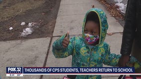 Young CPS students begin return to classroom learning