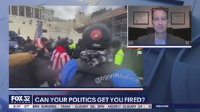 Can you be fired for protesting or rioting for your political affiliations?