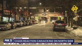 Two people carjacked on same block in Edgewater