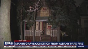 Man in 'grave' condition after Albany Park fire: officials