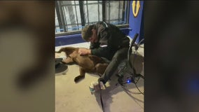 Homeless man reunited with allegedly stolen service dog