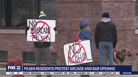 Pilsen residents protest opening of arcade, bar