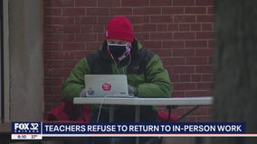 Chicago teachers refuse to return to in-person work
