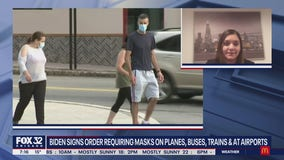 Biden signs executive order requiring masks for travelers