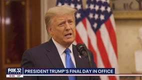 President Donald Trump wishes new administration luck in farewell video