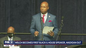 Welch becomes first Black Illinois House speaker, replacing Madigan