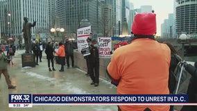 Chicago demonstrators react to unrest in D.C.