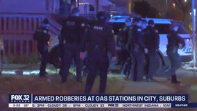4 gas stations robbed at gunpoint overnight on Northwest Side, western suburb