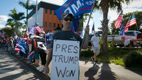 'Welcome home': Trump supporters line street near Mar-a-Lago