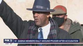 Saint Sabina parishioners stand behind Pfleger after sexual abuse allegation
