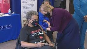 Mayor Lightfoot gets vaccine as Illinois loosens COVID-19 rules