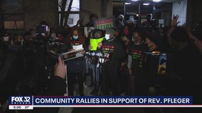 Community members gather on Chicago's South Side to rally around Pfleger amid sexual abuse allegation