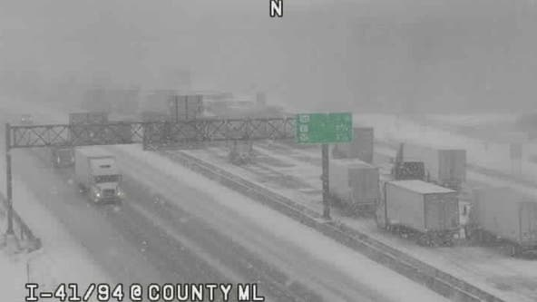 Northbound Tri-State shut down near Wisconsin border for several crashes