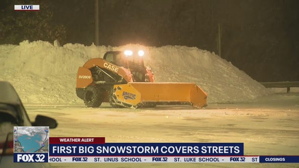 Winter storm dumps 3 inches of snow on Chicago, more possible Tuesday