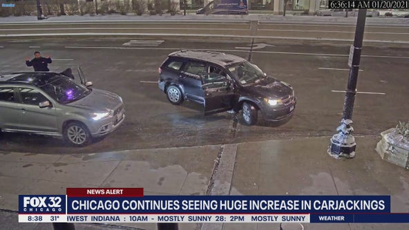 Carjackers target 5 vehicles overnight in Chicago; 3 tied to single crew