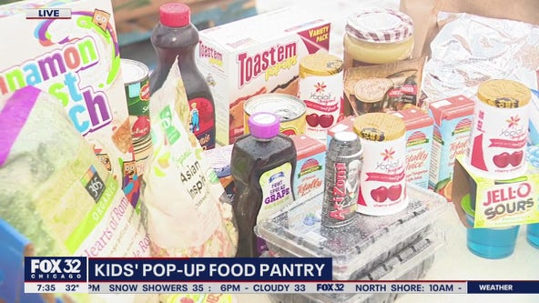 Kids' pop-up food pantry in Aurora