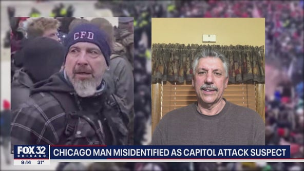Retired Chicago firefighter misidentified as Capitol attack suspect