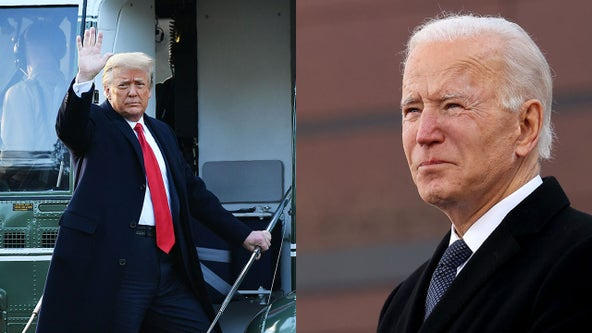 Trump leaves letter for Biden before departing White House