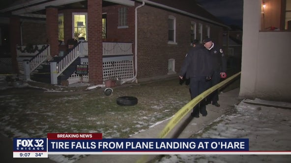 Plane wheel lands in yard of Jefferson Park home: police