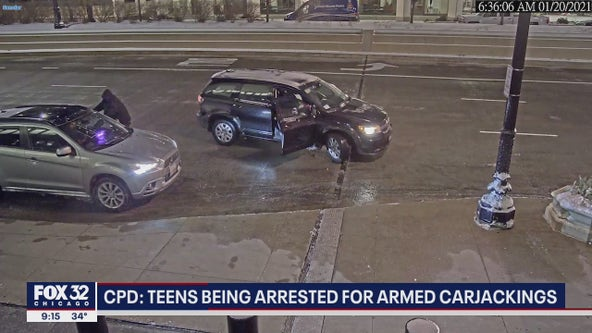 CPD: Teens being arrested for armed carjackings in Chicago, suburbs