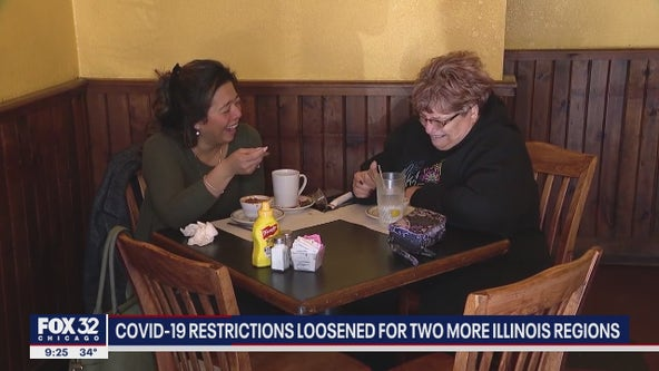 COVID-19 restrictions loosened in two more Illinois regions, allowing indoor dining to resume