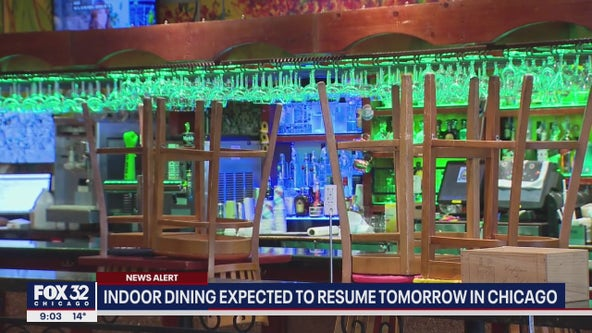 Indoor dining expected to be allowed in Chicago starting Saturday