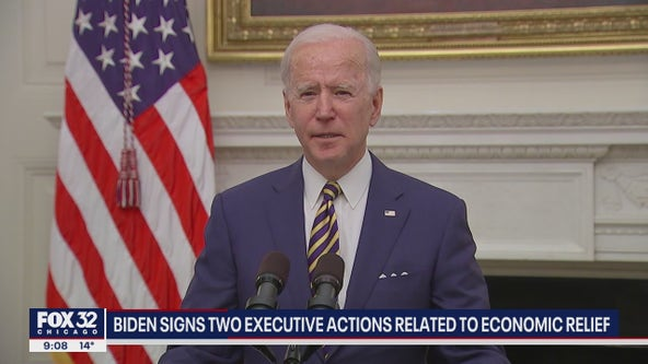 Biden signs two executive actions focused on economic relief