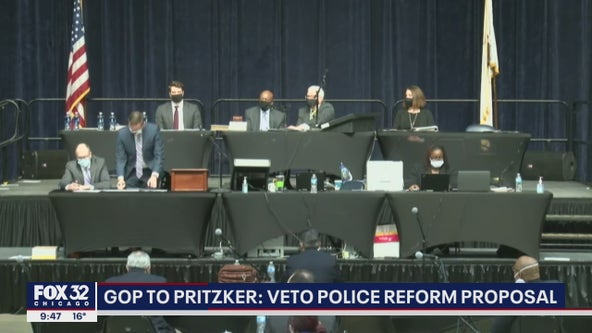 Illinois Republican lawmakers urge Pritzker to veto police reform proposal
