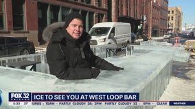 West Loop business embraces winter with outdoor ice bar