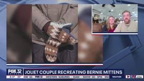 Joliet couple recreates Bernie Sanders' mittens after viral sensation