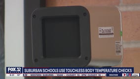 Suburban schools using touchless body temperature checks to vet students